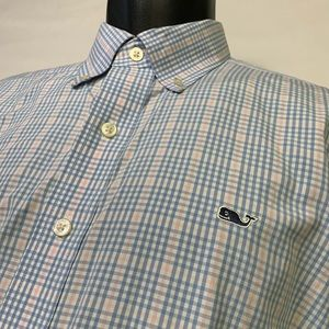 Vineyard Vines Whale shirt in plaid